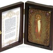 Настольная икона Святой благоверный князь Борис на мореном дубе фото
