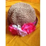 Детская соломеная шляпка фото