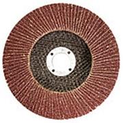 Круг лепестковый торцевой КЛТ-1, зернистость Р100 (12Н), 125 х 22,2 мм // БАЗ 74013 фото