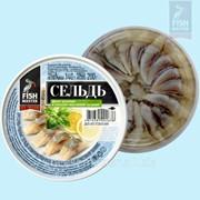 Сельдь атлантическая филе-кусочки в уксусно-масляной заливке фото