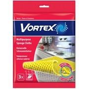 Салфетки для уборки Vortex Универсальные 3 шт. 18x18 см фото