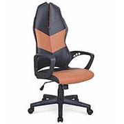 Кресло компьютерное Halmar COUGAR 3 (черный/коричневый) фото