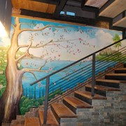 Художественная роспись стен и потолков в офисе, квартире, торговом зале, ресторане, кафе Киев фото