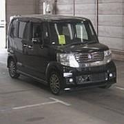 Микровэн турбо HONDA N BOX кузов JF2 класса минивэн модификация G Turbo PKG гв 2012 4WD пробег 146 т.км черный фото