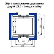 Лифты Gen2Comfort с центральным открыванием (CLD) 2 входа в кабину фото