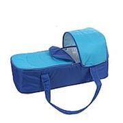 Люлька-переноска для коляски Карапуз (Синий+васелек) фото