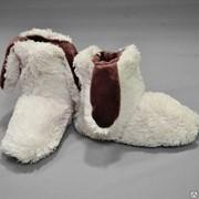 Женские домашние тапочки Тэдди коллекция (премиумный пушистый мех) фото