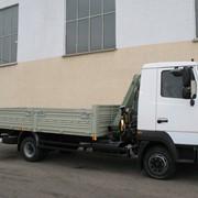 Бортовой автомобиль Купава на базе шасси МАЗ-437143, с гидравлическим краном-манипулятором FassiF50A.21 фото