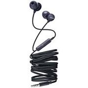 Наушники вкладыши с микрофоном Philips SHE2405BK, мобильная гарнитура, чёрные фото