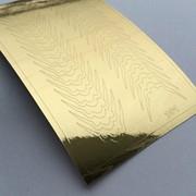 Металлизированные наклейки №101 золото ххх фото