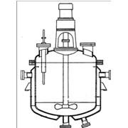 Реакторы с пропеллерными или турбинными мешалками, нижними спусками продукта и съемными крышками фото