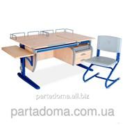 Стол универсальный трансформируемый СТУ.17.04-05 +Стул клен /синий фото