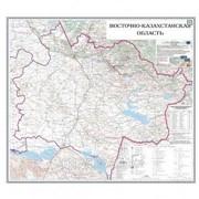 Карта областная ВКО, масштаб 1:1 000 000, 770*890 мм, ламинированный фото