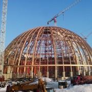 Монтаж зданий арочного типа (купол аквапарка парка) фото