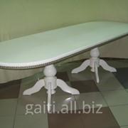 Стол ВЕСЕЛКА слоновая кость,большой стол,белый стол,большой белый стол,фото большого стола,цена большого стола,большой стол в гостиную,большой стол на заказ фото
