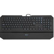 Клавиатура usb Defender SM-660L Oscar Pro, мультимедиа, синяя подсветка символов, чёрная фото