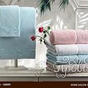 Полотенце для ванной Tivolyo Home FORZA хлопковая махра зелёный 50х100 фото