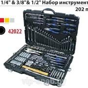 """Набор инструмента 202пр.1/4"""",3/8"""",1/2"""" Forsage 42022 фото"""