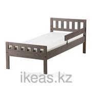 Каркас кровати с реечным дном, серо-коричневый МЮГГА фото
