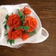 Букет роз из бисера фото