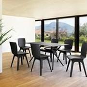 Пластиковый стул Mio черный (44x56x84см) фото