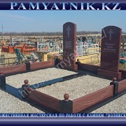Изготовление, доставка и установка памятников из гранита и мрамора фото