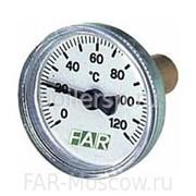 "Термометр 0-120°C, зонд 36мм, D=40 мм, торцевое соединение 3/8"", артикул FA 2650 фото"