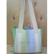 Designer handmade tote bag with complicated pattern \Дизайнерская домотканая сумка-тоут со сложным узором фото