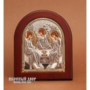 Святая Троица - Икона Из Греции С Серебром И Позолотой Код товара: GOLD фото