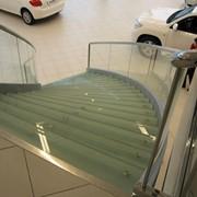 Лестницы стеклянная фото