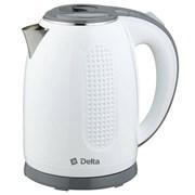 Чайник электрический Delta DL-1019 белый серый 1.7л фото