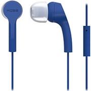 Наушники вкладыши с микрофоном Koss KEB-9iB, мобильная гарнитура, синие фото