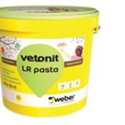 Шпаклевка (Шпатлевка) Вебер ЛР Паста (Weber LR Pasta) белая финишная полимерная под покраску под обои 20кг фото