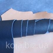 Натуральная кожа для обуви и кожгалантереи синяя арт. СК 1198 фото