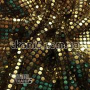 Ткань Копейка ( золото на черном ) 203 фото