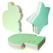 Стикеры для заметок фигурные с липким слоем, 76 x 76 mm, 100 листиков, 4 цвета, jiate decor-mix NAD8010M фото
