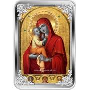Икона Богоматери Почаевская. Серебряная монета фото