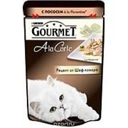 Gourmet 85г пауч А-ля-Карт Влажный корм для взрослых кошек Лосось фото