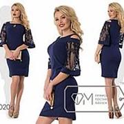 Платье женское футляр (3 цвета) - Синий SD/-2440 фото