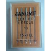 Иглы для бытовых машинJanome для кожи 100 1уп - 5 игл НА х 1 фото