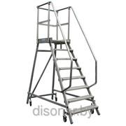 Лестница с платформой 1х8 ступеней 810502 фото