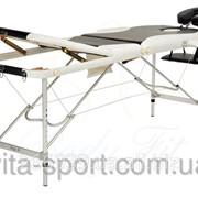 Стол массажный алюминиевый 3-х сегментный Body Fi Черный фото