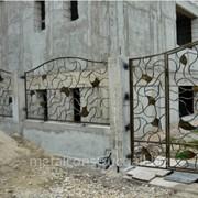 Ворота уличные из кованого железа №22 фото