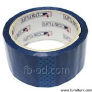 Клейкая лента большой 5см/45м цветная синяя 18528 фото