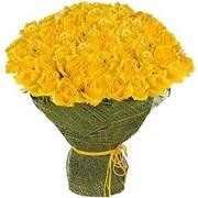 Букеты из роз 101 желтая роза фото