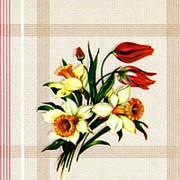 "Клеенка столовая на тканой основе арт.315-3 ""Нарцисс"" бежевая 1,3*25 м фото"