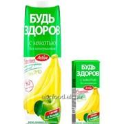 """Нектар с мякотью """"Будь здоров"""" яблочно-банановый, объем 1/0,2л фото"""