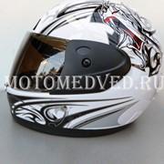 Шлем Safebet, белый закрытый, тонированное стекло, размер S 55-56, Китай фото