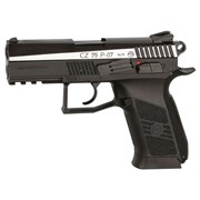 Пневматический пистолет ASG CZ 75 P-07 Blowback (вставка никель) фото