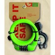 Кодовый замок Green Cycle GCL-А600 в силиконовой обойме с тросом 10х150cm фото